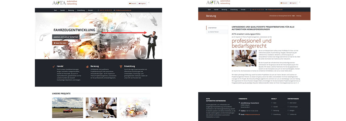 Webdesign Aschaffenburg ACTA Automotive